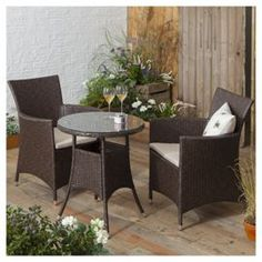 Tesco Garden Furniture Sale Suntime wadebridge rattan bistro set with smoked glass table top buy tesco corsica rattan garden bistro set brown from our rattan garden furniture range at tesco direct workwithnaturefo