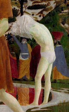 Piero della Francesca, Le baptême du Christ, détail