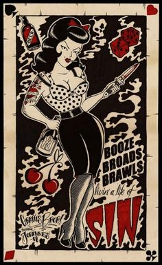i love these colos, as well as the betty page looking girl! :)