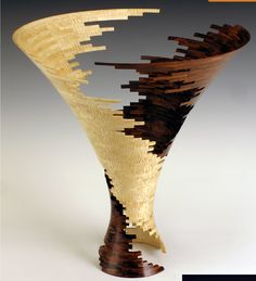 """Hyperboloid 3,"" 2007; Bud Latven; Macassar ebony, Brazilian canarywood; Courtesy of the artist; Photo: Robert Reck"