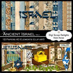 Ancient Israel Digital Scrapbook Kit Vol 1 - Digital Scrapbooking Blog