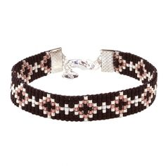 Beads-armbandje 'Black Diamonds' - Mint15