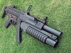MP5 with a handy tree decorating aid .