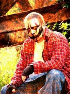 Boondox is an American rapper from Covington, Georgia. Hutto is most commonly known as Boondox, whose stage persona is a 'killer scarecrow', and Turncoat Dirty.