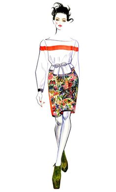 Fashion Illustration Kati Nescher for Preen Fall 2012
