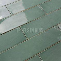 EQ Langwerpige Witjes 7,5x30 Cm Handvorm Wandtegel Glans Jade Groen