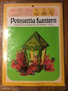 Vintage Poinsettia Lantern Pop-up Paper Centerpiece by Gibson Greeting Cards | Collectibles, Holiday & Seasonal, Christmas: Modern (1946-90) | eBay!
