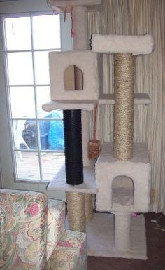 My Mom has a cat and she loves to crawl into boxes and other things to hide. I have this idea in my head about making her a cat condo or playhouse. I have some large boxes that I will be using.