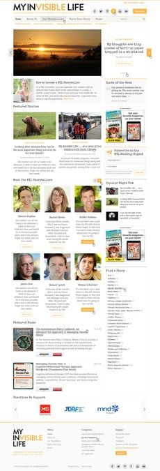Design a Global Advocacy Storytelling Website for Invisible Ilness Awareness. by daydreamer99