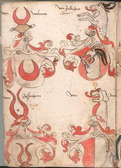 Wernigeroder (Schaffhausensches) Wappenbuch Süddeutschland, 4. Viertel 15. Jh. Cod.icon. 308 n  Folio 183v