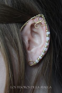elven ear  ear cuff  elvish earring  elf ear by Ayalga on Etsy, €9.00