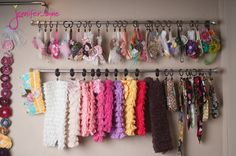 """prop stash, curtain rods and drapery rings..!""  Great idea for accessories in your room or a little-girl's - MilitaryAvenue.com"
