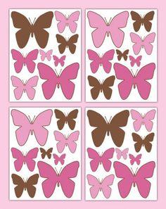 Butterfly Wings Decal Wall Art Stickers Baby Girl Garden Nursery #decampstudios