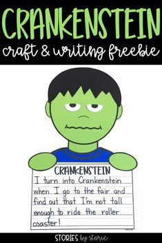 Are you reading Crankenstein by Samantha Berger to your students this year? I have a Crankenstein craft and writing activity that you can use with your students after reading this story. Second Grade Writing, Teaching Second Grade, Third Grade, Grade 2, Fourth Grade, Writing Lessons, Teaching Writing, Kindergarten Writing, Literacy