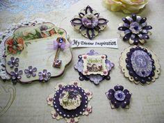 Secret Garden Scrapbook Embellishments, Paper Embellishments, Paper Flowers for Scrapbooking Layouts, Cards, Mini Albums Paper Crafts