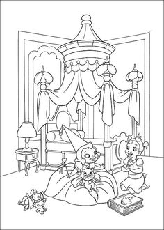 Charlotte et Tiana. The Princess and the Frog - Disney Coloring Page Disney Princess Coloring Pages, Disney Princess Colors, Frog Princess, Disney Colors, Baby Princess, Frog Coloring Pages, Printable Coloring Pages, Coloring Pages For Kids, Coloring Sheets