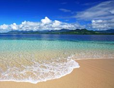 The beach in Fiji - just to picture us there and put a smile on our faces… oh, and turquoise!!!