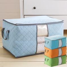 Travel Storage Folding Drawstring Square Storage Basket Big Capacity Toy Laundry Makeup Container Cosmetics Underwear Organizer Spare No Cost At Any Cost Foldable Storage Bags