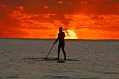 SUP stands for Stand Up Paddle surfing. And, no prizes for working out that ...
