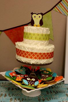 retro owl theme Baby Shower Party Ideas | Photo 1 of 11 | Catch My Party