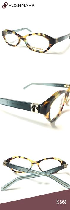 Tory Burch Eyeglasses Tortoise Teal NEW New Tory Burch Eyeglasses Tortoise Teal with Tory Burch Case   Eye:50 Bridge:16 Temple:135   Condition: NEW-NEVER WORN We Ship Within one business day!!!                        No Trades!!!! Tory Burch Accessories Glasses