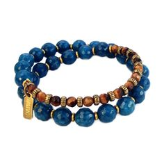 Clarity and Prosperity, Sapphire Jade and Tiger's eye 27 bead wrap mal – Lovepray jewelry