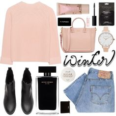sweater weather (top set) by charli-oakeby on Polyvore featuring polyvore, fashion, style, iHeart, Levi's, Olivia Burton, MAC Cosmetics, NARS Cosmetics, Fresh and Kate Spade