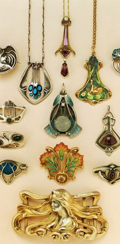 love the art nouveau jewelry! | JV