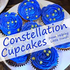 Constellation Cupcakes -- 4th year certification. 'Identify two or more constellations'. Learn about constellations with the cupcakes then have a star gazing night at camp.