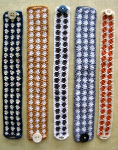 crocheted bracelets with button closure - adding beads would be pretty    #crochet #handmade #jewelry #bracelet #DIY #craft