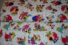 Tossed Happy Dogs Fabric! So cute! Designer Fabric!