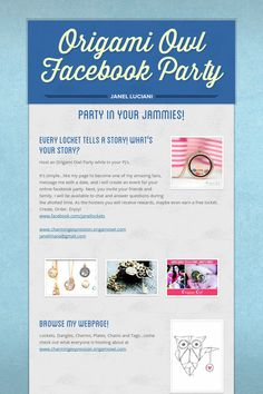 Origami Owl Facebook Party