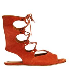 Chloé Lace-up Suede Gladiator Sandals ($628)