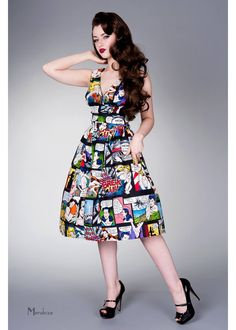 Victory Parade Retro Frock Cartoon Dress Summer Love 50s Style Clothing 09addcd0235b