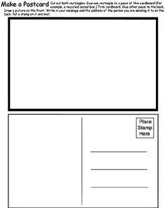 Free Postcard Templates Blank Printable Postcards