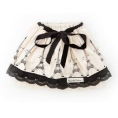 Nothing beats a touch of Paris on a little girl's skirt.