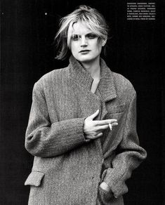Guinevere Van Seenus, Peter Lindbergh, Men Sweater, Vogue, Style, Fashion, Swag, Moda, Fashion Styles