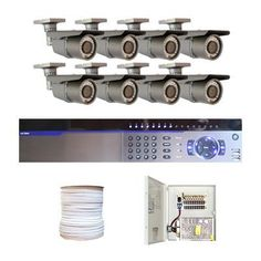 "Complete Professional 8 Channel Full D1 CCTV DVR (2T HD) Surveillance Video System Package with (8) x 700TVL 1/3"" Exview HAD CCD II with Effio-e DSP Devices 2.8~12mm Varifocal Lens, 42pcs IR LED, 115 ft IR Distance Outdoor Security Camera by Gw. $1510.00. Package Includes: GW3008 DVR with 2T HDD; Remote Control and mouse; 8 x GW30WD - 1/3"" Exview HAD CCD II Camera; 1 x GW500RG59: 500 Feet RG59 Siamese Power/Video Combo Cable; GWP1209-10A: 1 x 9 ports power box; 8 x Powe..."