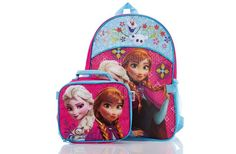 "Disney Frozen Backpack with Lunch Bag - Blue/Pink  She'll be ready for anything the school day throws her way with this adorable pink and purple Frozen backpack with her favorite Frozen characters! Comes with detachable lunch bag!  Features: * One zip closure * Two mesh exterior pockets. * Backpack Dimensions: 12"" x 4"" x 16"" . To order: http://www.shopaholic.com.ph/#!/Disney-Frozen-Backpack-with-Lunch-Bag-Blue-Pink/p/46489848"