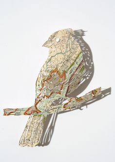 claire brewster. paper (map) art