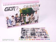 GOT7 Got 7 2015 2016 Desk Calendar (with Sticker ) New Year K-POP Korean Pop
