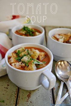 """Non-Cream"" of Tomato Soup #vegan #vegetarian #soup | @Susan Caron Salzman | www.theurbanbaker.com"