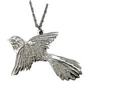 Silver fantail pendant