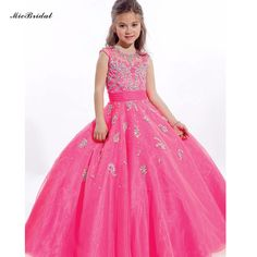 Pageant Gowns Kids Beauty Pageant Dresses for Little Girls Prom Dresses Organza Tulle Puffy Flower Girl Pageant Dresses WF-60