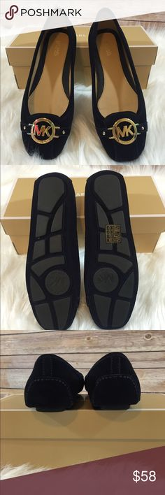 NWT Navy Blue Michael Kors Fulton Moc Flats NWT Navy Blue Michael Kors Fulton Moc Flats.  Size 8.5. Box included. Michael Kors Shoes Flats & Loafers