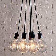 Kaufen (EU Lager)60W E27 minimalistische Pendelleuchte mit 7 Lampen mit Günstigste Preis und Gute Service!