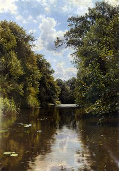 """Peder Mork Monsted (Peder Mork Mønsted) Peder Mork Monsted (Peder Mork Mønsted) (1859-1941) A Summer's Day Oil on canvas -1905 117.5 x 83.2 cm (46.26"""" x 32.76"""") Private collection"""