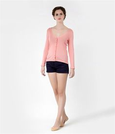 Petit Bateau Cardigan femme col V en coton léger rose bisou M