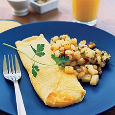 Folded Cheese Omelet - Classic French Recipes - Sunset