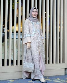 Image may contain: 1 person, standing and text Dress Brukat, Kebaya Dress, Dress Pesta, Batik Dress, Kebaya Hijab, Dress Brokat Muslim, Kebaya Muslim, Muslim Dress, Modern Hijab Fashion